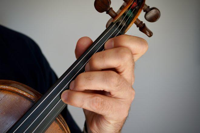 die zweite Griffart auf der Geige
